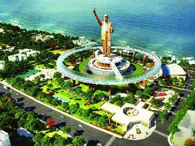 Ambedkar memorial project: Statue height to be raised by 100 feet