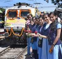 International Women's day: All-women operated Basava Express flagged-off from Bengaluru City railway station