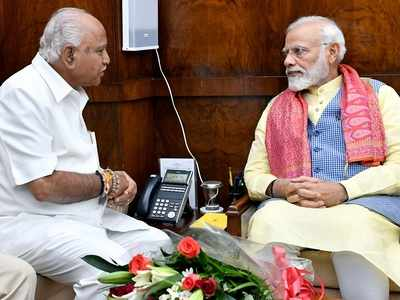 CM BS Yediyurappa meets PM Narendra Modi, several Union Ministers; discusses state issues