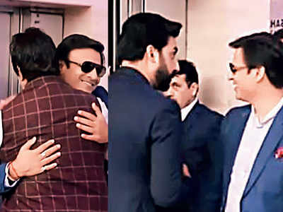Abhishek Bachchan and Vivek Oberoi's meet and greet