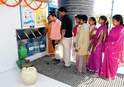 Clean water untapped in city slum