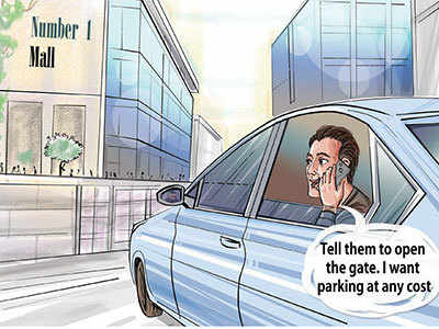 Now, it takes influence to find parking in mall!