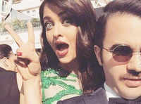Aishwarya Rai Bachchan's cute selfies at Cannes