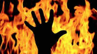 Ghaziabad: Man sets mother on fire