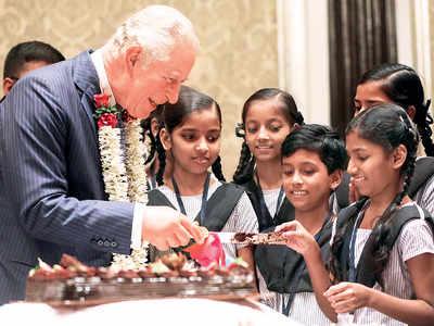 Prince Charles celebrates 71st birthday with BMC school children in Mumbai