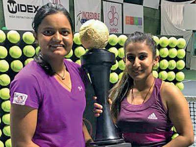 AITA Tennis Tournament: Amdavadi girl wins women's doubles crown, but loses mixed doubles final