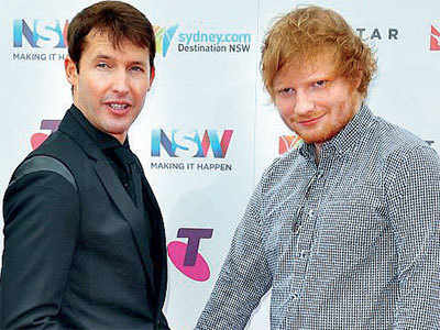 Sheeran godfather to James Blunt's son