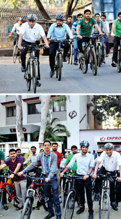 Pimpri firm helps its employees cycle to work