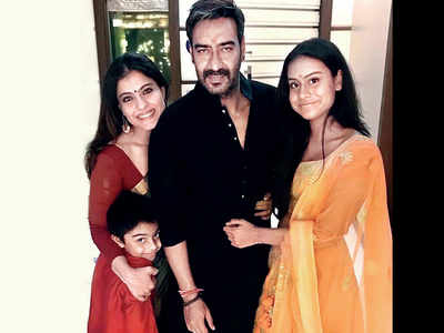 Kajol in Singapore with daughter Nysa, while Ajay Devgn spends time in Mumbai with son Yug