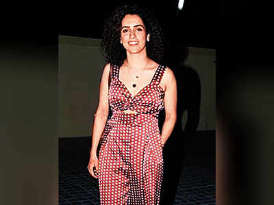 Sanya Malhotra gives a befitting reply to Diet Sabya for calling her jumpsuit 'Gandi Copy'