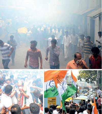 Karnataka Elections 2018: JC Road couldn't mind its business, thanks to Congress