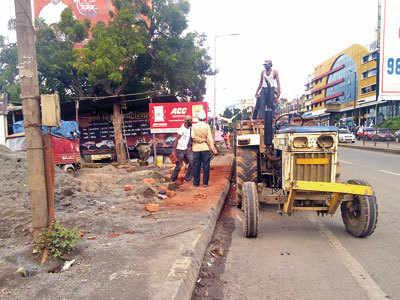 Blocked pavement irks Bhosari pedestrians