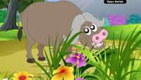 Learning Videos For Children - 'Animal Sounds In Gujarati - Buffalo' - Kids Nursery Sounds In Gujarati