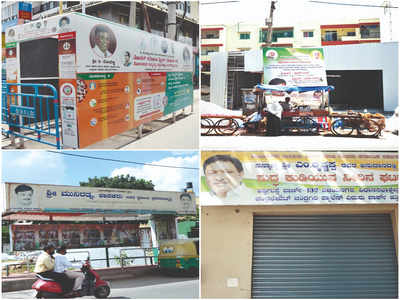 Banners banished: Palike will remove illegal ads and photos of party leaders pasted all over Bengaluru