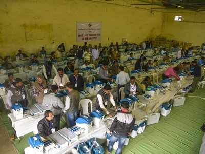 Ahead of counting, videos of EVMs being moved into strong room premises go viral