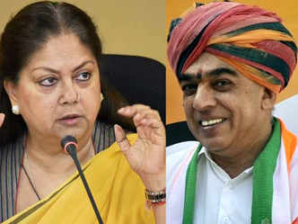 Cong fielded Manvendra against me as it could not find any one else: Raje