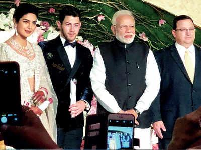 PM Narendra Modi wishes Nick Jonas, Priyanka Chopra at their Delhi reception