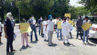 Chandigarh: PU students protest over holding of final semester exam