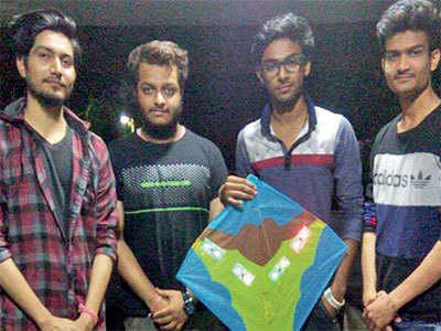 Electronic engineering students develop LED lights to add tukkal-effect on kites during Uttarayan