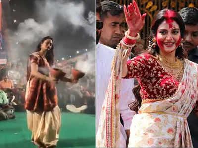 Fake alert: No, it's not Nusrat Jahan doing dhunuchi dance in this video