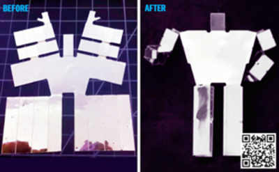 Bake your own self assembling robot