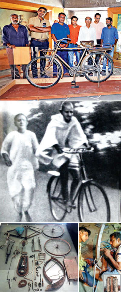 It's freedom at last for Mahatma's rusty old bicycle