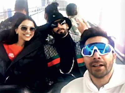 Varun Dhawan finds foster parents in Ranveer Singh and Deepika Padukone