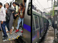 Delhi Metro: Commuters evacuated after metal barricade falls on train