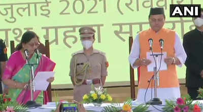 Uttarakhand chief minister live updates: Pushkar Singh Dhami takes oath as CM, Cabinet ministers also sworn in