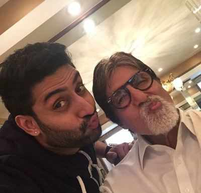 Abhishek Bachchan shares a picture from dad Amitabh Bachchan's 75th birthday celebrations