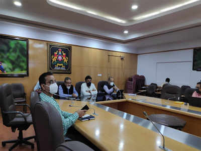 Medical Education Minister K Sudhakar chairs meeting with private hospitals