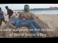 National Doctor's Day 2020: Allahabad University students pay a tribute through sand art