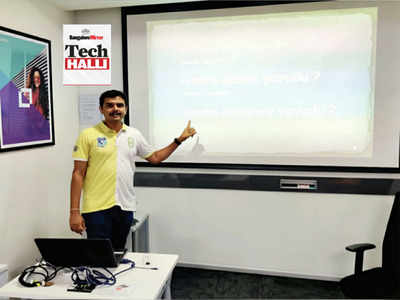 Bengaluru: This techie not only teaches coding but also Kannada
