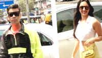 Kiara Advani, Karan Johar spotted outside restaurant in Mumbai