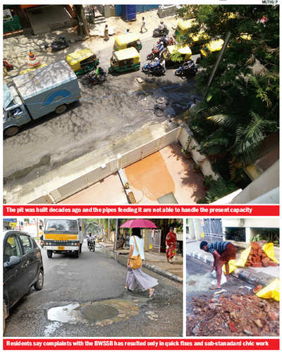Nandidurga Rd residents pitted against sewer pits
