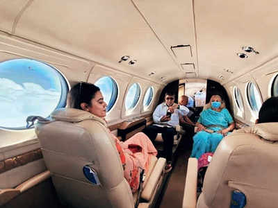If you are scared of flying commercial, just jet, set, and go