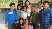 Soundarya Sharma spends her birthday with underprivileged kids
