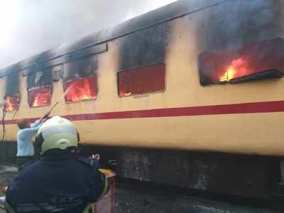 AC coach of Mumbai Central-Jaipur Express catches fire