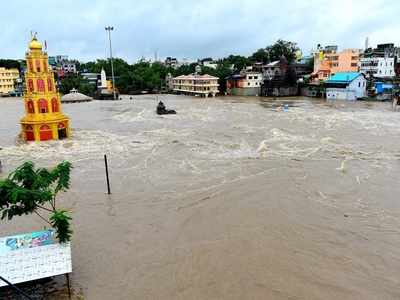 Godavari River rises above danger mark, results in flood-like situation in Nashik