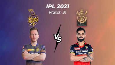 IPL Score 2021, KKR vs RCB: Kolkata beat Bangalore by 9 wickets - The Times  of India : 9.6 : Kolkata Knight Riders : 94/1