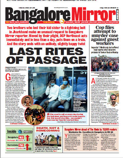 Bangalore Mirror ahead of The Hindu by 19,000 readers