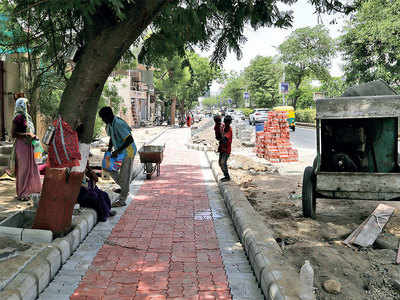 Walk, cycle or cruise on Anandnagar road; road development set to change Satellite