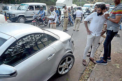 Car rams into pedestrians, knocks down Army jawan