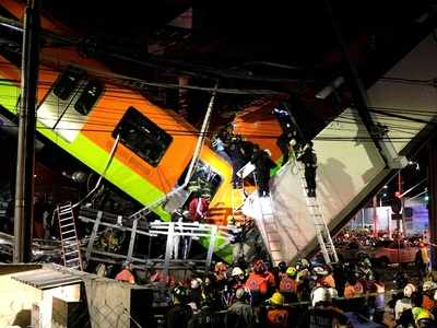 20 dead, 49 injured in Mexico City underground rail bridge collapse