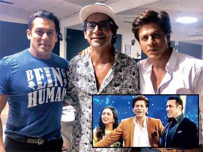 Shah Rukh Khan, Salman Khan and Rani Mukerji reunite on Dus Ka Dum