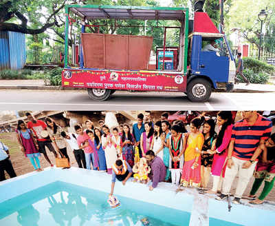 Garbage vats refashioned as immersion tanks anger devotees