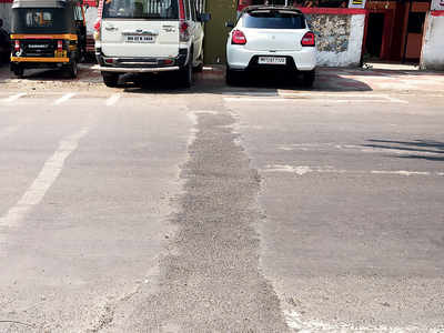 Trench blocking a road in Kothrud covered up