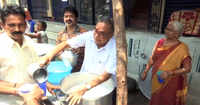 Meet this Andhra Pradesh's man who distributes buttermilk to passers-by to help them beat the heat