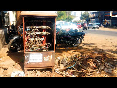 Uncovered DP boxes shock Bhosari MIDC