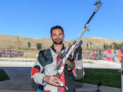 India's Akhil Sheoran strikes gold in men's 50m Rifle 3-Position at shooting World Cup